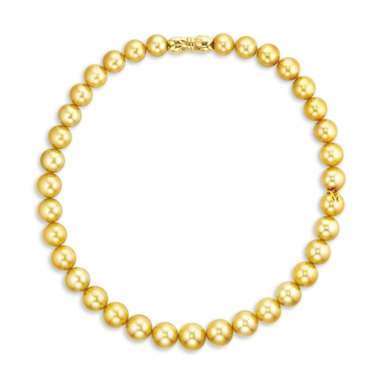 A Golden Cultured Pearl Necklace, Mikimoto