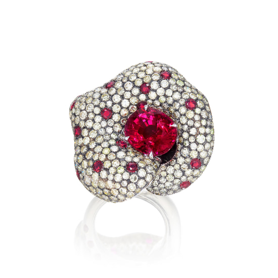 A Rubellite, Diamond and Ruby Ring, Margherita Burgener