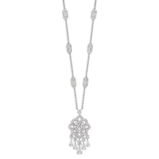 A Diamond 'Rosette' Pendant Necklace, Graff