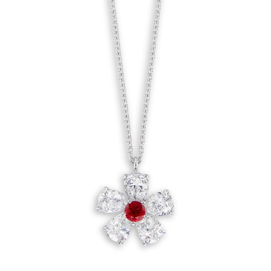 A Ruby and Diamond 'Flower' Pendant Necklace, Graff