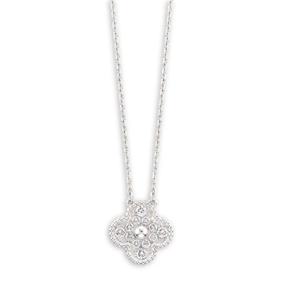 A Diamond 'Alhambra' Pendant Necklace, Van Cleef & Arpels