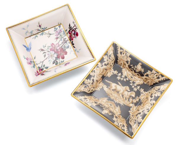 A very fine pair of limited edition Limoges porcelain and enamel commemorative plates