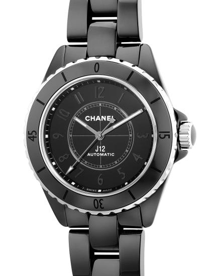 A black ceramic wristwatch with center seconds, ceramic bracelet, presentation box and warranty