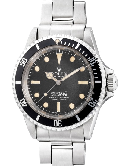 A fine and rare stainless steel diver's wristwatch with center seconds and bracelet