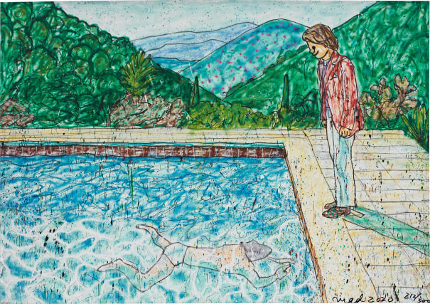 Portrait of an Artist (Pool with Two Figures) II (Inspired by David Hockney)