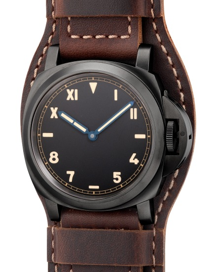 """A fine and attractive limited edition DLC-coated titanium cushion-shaped wristwatch with 8-Day power reserve, """"California"""" dial, guarantee and box, numbered 390 of a limited edition of 2000 pieces"""