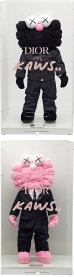Two works: Dior BFF Plush (i) (Black); (ii) (Pink)