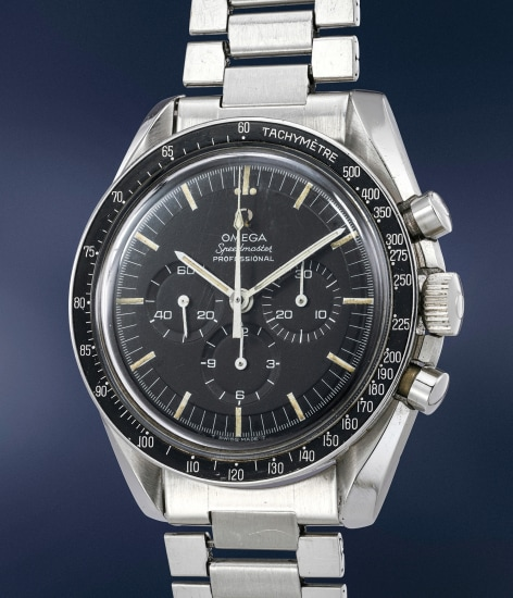 A fine stainless steel chronograph wristwatch with bracelet and box