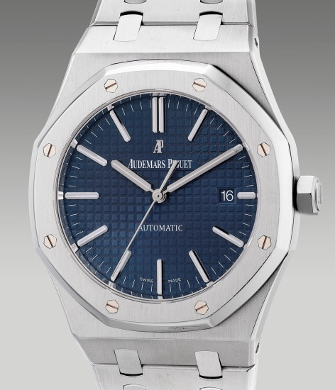 A fine and attractive stainless steel wristwatch with center seconds, date, bracelet and presentation box