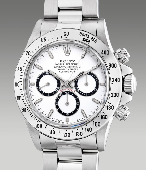 A fine and attractive stainless steel chronograph wristwatch with bracelet and guarantee