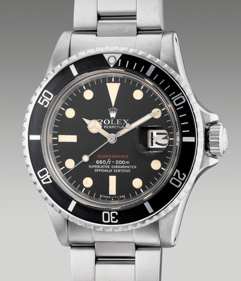 An attractive stainless steel wristwatch with center seconds, date, bracelet, guarantee and presentation box