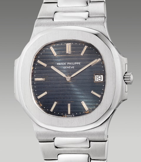 A very fine, attractive and rare stainless steel wristwatch with date and bracelet