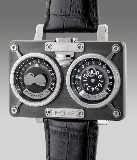 A rare and unusual limited edition titanium and ceramic rectangular instantaneous jump hour wristwatch with retrograde minutes and date, bi-hemisphere moon phases, warranty and presentation box, limited edition of 66 pieces