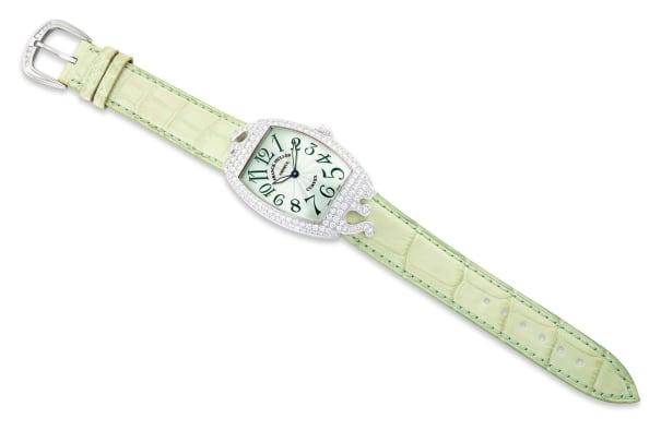 A Lady's Diamond Wristwatch, 'Cintrée Curvex'