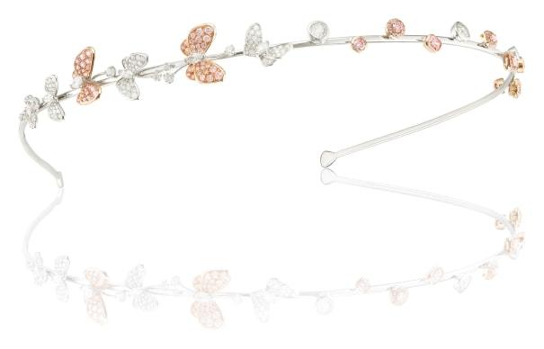 A Pink diamond and Diamond Hairband