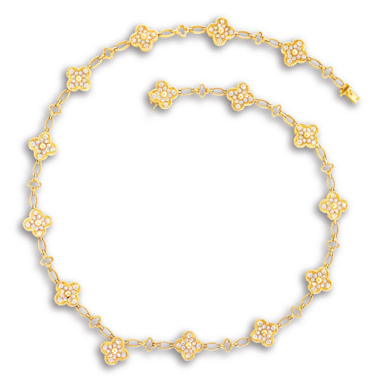 A Diamond 'Alhambra' Necklace, Circa 1992