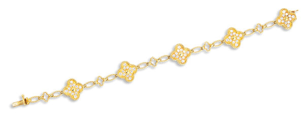 A Diamond 'Alhambra' Bracelet, Circa 1984