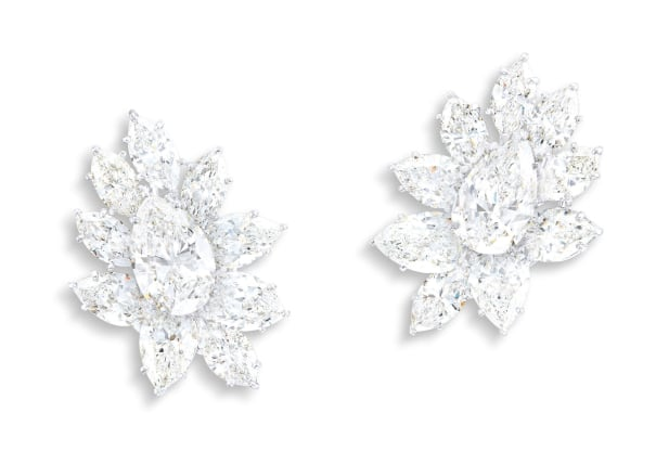 A Classic Pair of Diamond Cluster Ear Clips