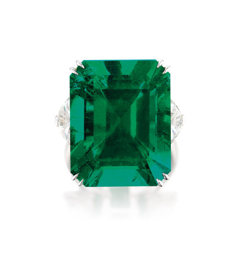 An Exceptional and Very Rare Emerald and Diamond Ring
