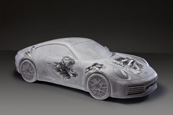 Grey Selenite Eroded Porsche