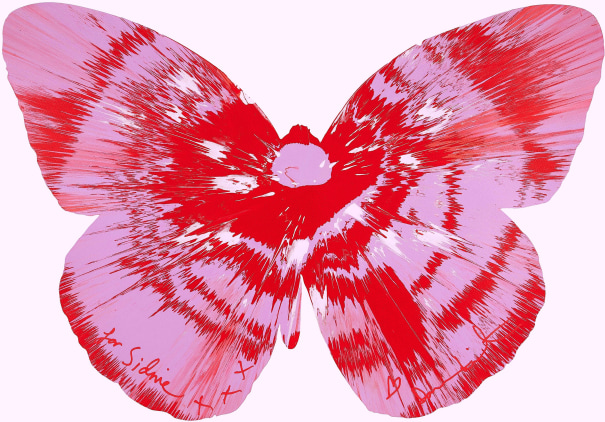 Untitled (Butterfly spin painting)