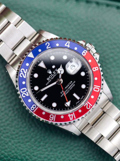 GMT 16700, Pepsi, A503312, automatic, stainless steel, circa 1999