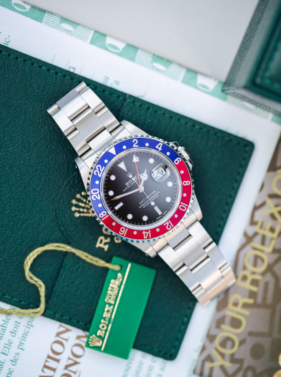 GMT 16700, Pepsi, automatic, stainless steel, circa 1999
