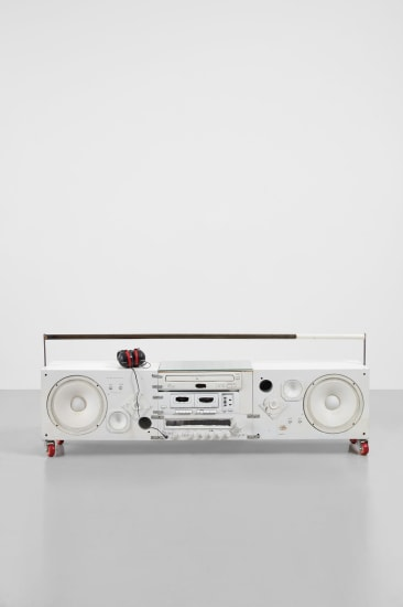Model Three (Model 3 White Boombox)