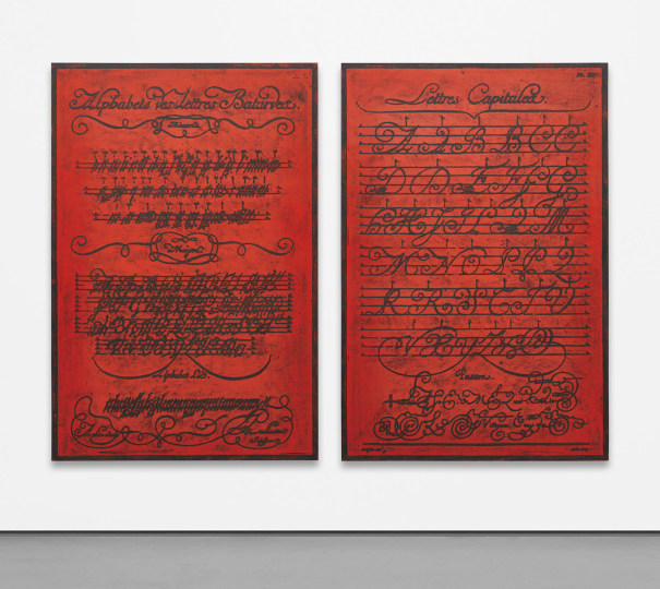 Two works: (i) Untitled (Diderot, Lettres Capitales); (ii) Untitled (Diderot, Alphabets des Lettres Bâtardes)