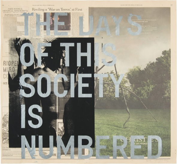 Untitled (The days of this society is numbered)