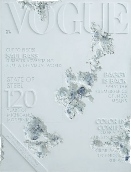 Blue Calcite Eroded Vogue Magazine