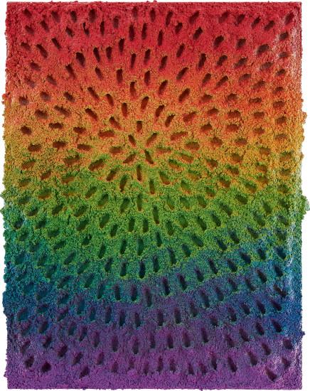 Eight of Wands (White Sand #9 Mandala, Rainbow Gradient)