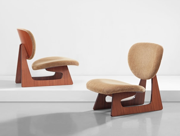 Pair of lounge chairs, model no. 5016