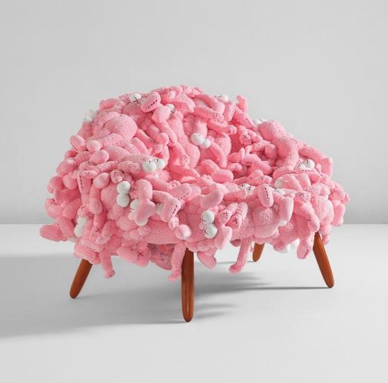 KAWS Chair Pink