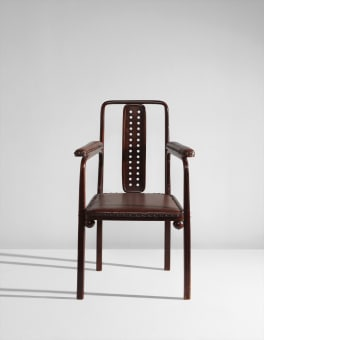 Josef Hoffmann Armchair, Designed For The Purkersdorf Sanatorium Sold For $  17,500