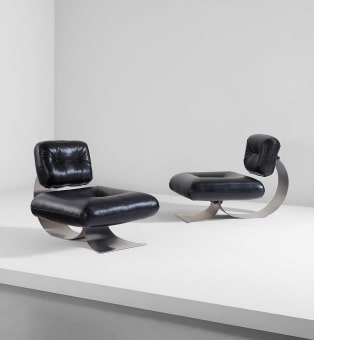 Oscar Niemeyer Pair Of Lounge Chairs Sold For 18 750 Design Day