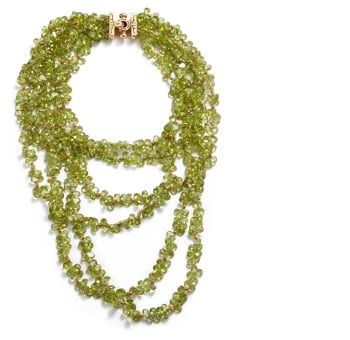A Peridot and Gold Necklace Jewels & More: Online Auction